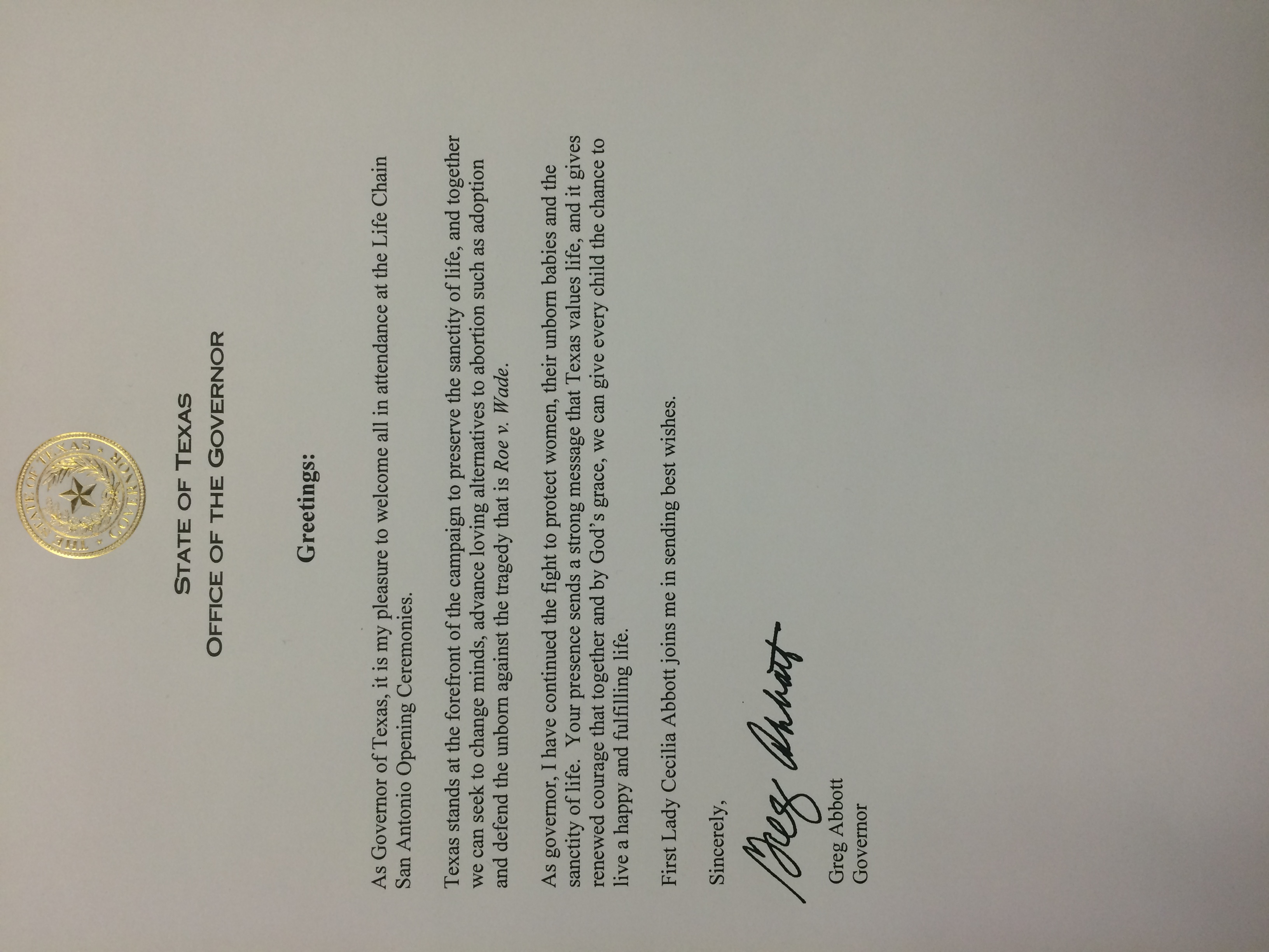 letter-from-greg-abbott-about-life-chain-sa